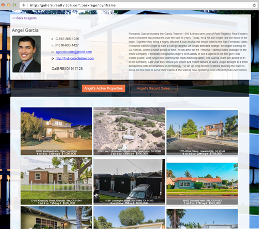 Real Estate Office Websites with Individual Agent detail pages