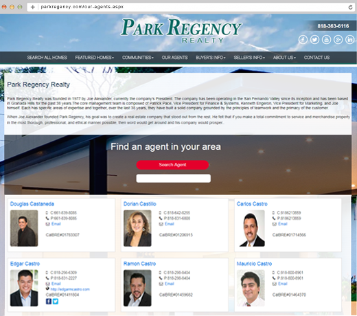 Real Estate Office Websites with Agent Gallery