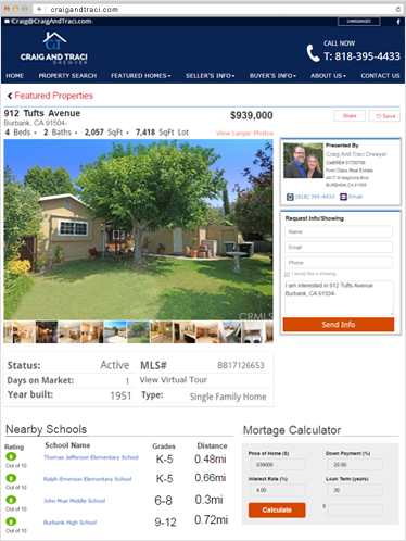 Idx Search Real Estate Agent Websites